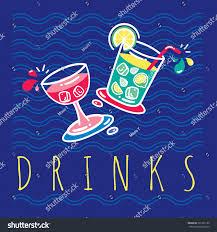 retro poster template tropical bar beach stock vector 361325120