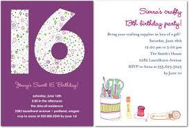16 birthday invitations vertabox