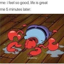 Mr Krabs Meme - i feel so good life is great bikini bottom feeling internet