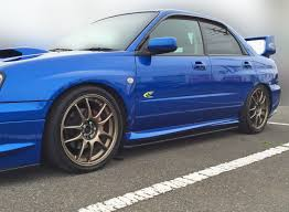 subaru hawkeye wagon subaru impreza 03 07 sti side skirt extension