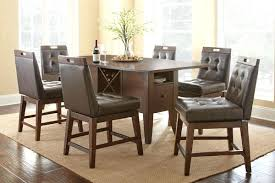 dining room swivel chairs table 6 counter from white furniture