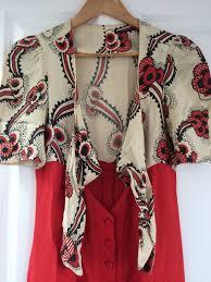 genuine vintage ossie clark dress with celia birtwell floating