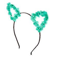 claires headbands mint flower cat ears black headband s us