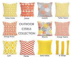 Patio Pillow Covers Outdoor Pillow Covers Orange Yellow Gray Cushions Decorative