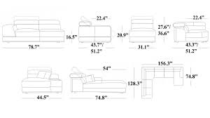 sectional sofa measurements rooms