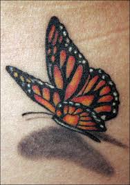 blue butterfly 3d on right wrist photo 2 photo