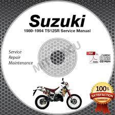 1989 1994 suzuki ts125r service manual cd rom repair shop 1990