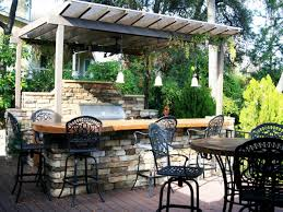 designing an outdoor kitchen for a barbecue party