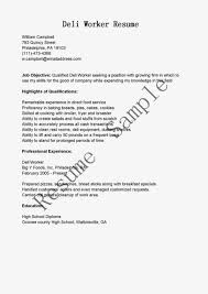 Food Service Worker Resume Sample by Deli Worker Resume Resume For Your Job Application