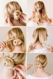 messy bun hairstyles for short hair step by step deceptive bun