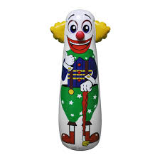 amazon com inflatable clown punching bag 54