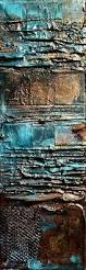 copper illusion ii mixed media rusted metal abstract carol