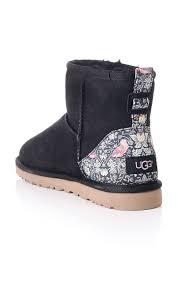 ugg classic mini boot liberty print blueberries designer clothing