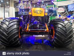 las vegas monster truck show giant car at the sema show in las vegas navada stock photo