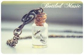 glass bottle necklace pendant images Music gift for women music bottle necklace music note jpg