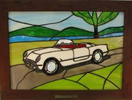 looking glass corvette 124 best stained glass cars trucks images on stained