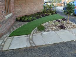 front garden on a new build estate angie barker trading as