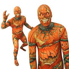 jack o lantern morphsuit horror halloween scary fancy dress