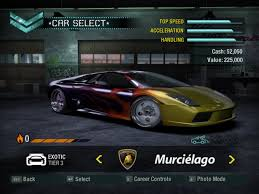 Lamborghini Murcielago Need For Speed - need for speed carbon screenshots for windows mobygames