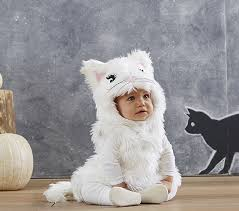 Infant Halloween Costumes 3 6 Months Baby White Kitty Costume Pottery Barn Kids