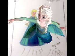 disney frozen elsa color 4d colorcraze 4d printable coloring