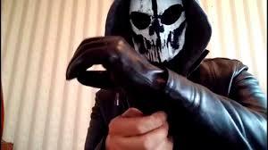 skeleton ghost mask evil skull mask gloves and knife youtube
