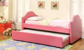 furniture of america cresson pink daybed twin trundle cm1959pk