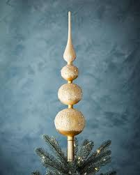wegner 4 stacked globes gold tree topper