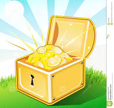 opened treasure box with gold royalty free stock images image