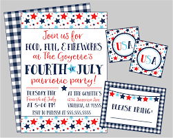 4th of july party or potluck party invitation food fun u0026