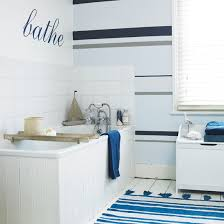 Striped Bathroom Walls Bathroom Wallpapers Ideal Home