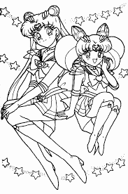 sailor moon smile sailor moon coloring pages