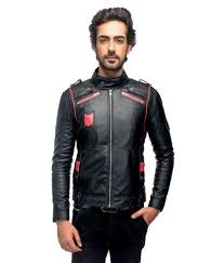 buy biker jacket anbow black full sleeves leather biker jacket buy anbow black