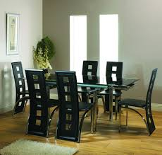 table handsome impressive glass dining table set for 6 with