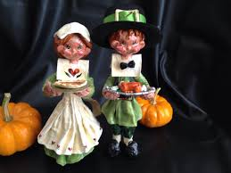 thanksgiving pilgrim figurines 10 inch thanksgiving pilgrim couples figurines page two thanksgiving wikii