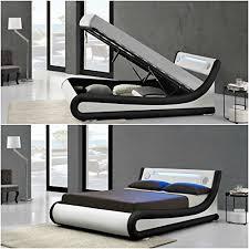 Led Bed Frame New Stunning Designer Led Ottoman Built In Bluetooth Speakers