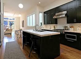 black kitchen cabinets small kitchen home design ideas