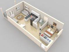 single room house plans beautiful 3d small house floor plans one bedroom on budget home