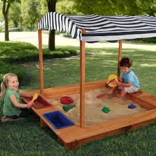 Striped Canopy by Outdoor Sandbox With Blue Striped Canopy Blue Products And Cabanas