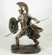 achilles u0027 ancient greek warrior bronzed statue figurine sculpture
