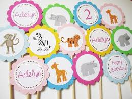 safari cake toppers safari animal zoo cupcake toppers for children birthday or baby