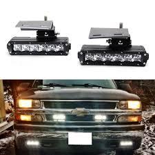 2001 chevy silverado fog lights 1500 2500 3500 led light bar with fog l retrofit brackets