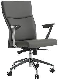 Adjustable Office Chair Impacterra New Jersey Faux Leather Gray Adjustable Office Chair