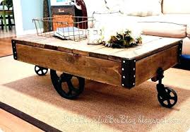 railroad cart coffee table coffee table cart coffee table cart with wheels s railroad cart