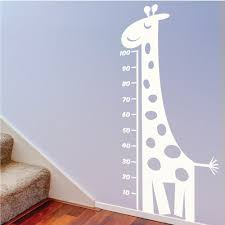 childrens measuring giraffe wall decal childrens wall zoom