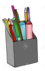 Pencil Holder For Desk Pencil Holder On The Desk Stock Photo Picture And Royalty Free
