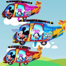 imagenes de feliz cumpleaños amor animadas 30 unids 76x46 cm mickey minnie mouse helicóptero foil globos de