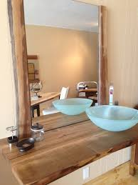 Wood Countertop Bathroom Vanity Powder Room Contemporary Vanity - Solid wood bathroom vanity top