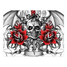 dagger and rose tattoo cards invitations greeting u0026 photo cards