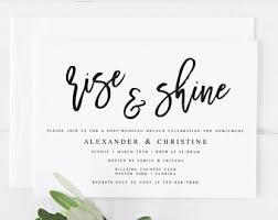 wedding brunch invitation post wedding brunch invitation wedding template editable
